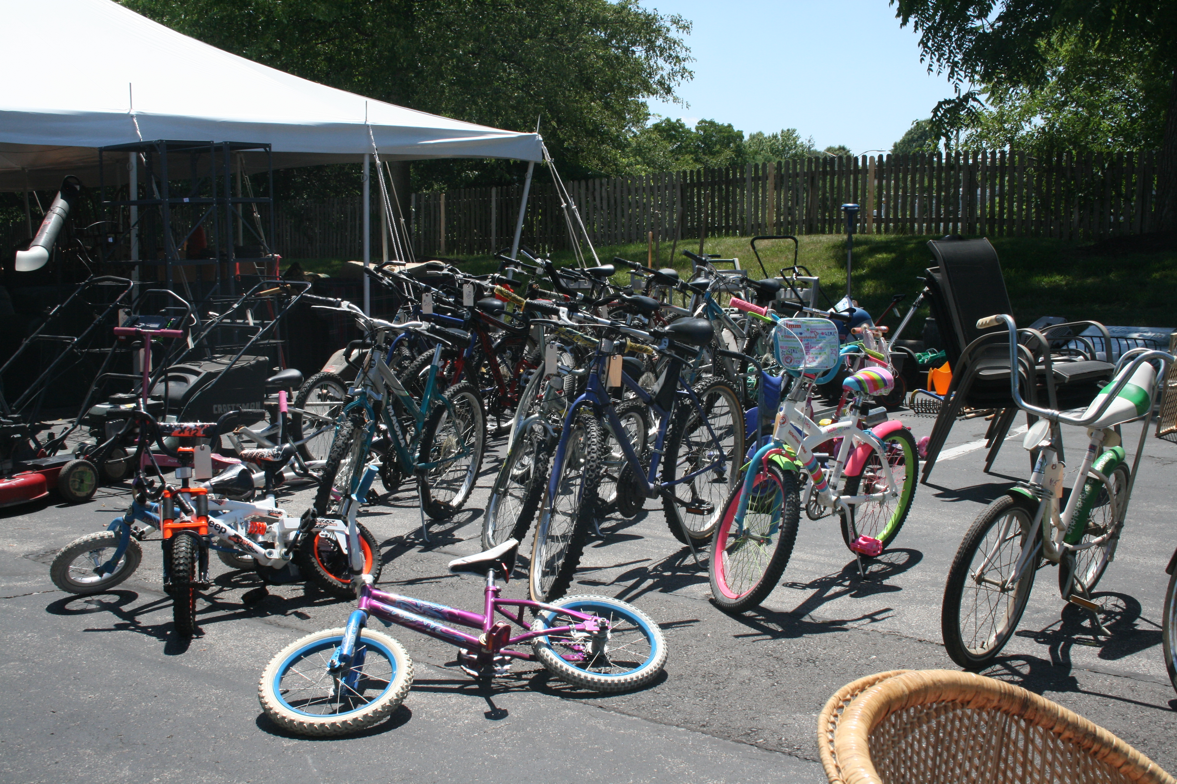 garage sale bikes - Church of the Ascension
