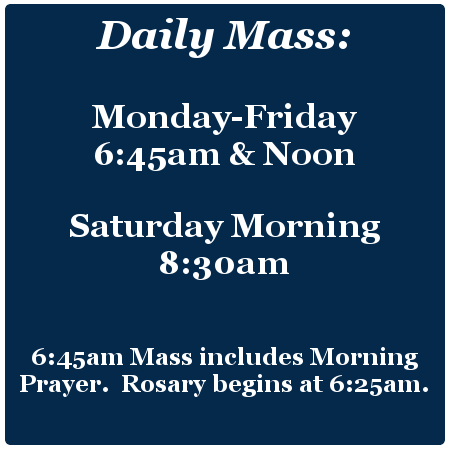 Daily Mass Times Overland Park, KS