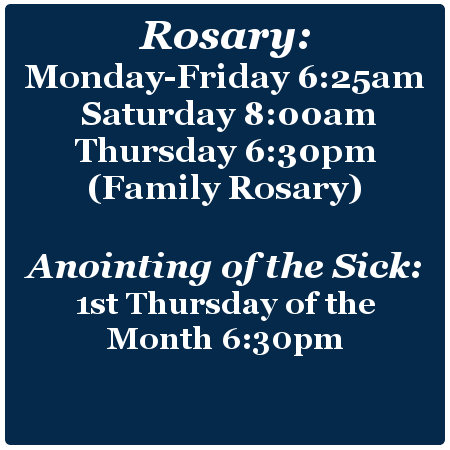 Rosary & Anointing of the Sick