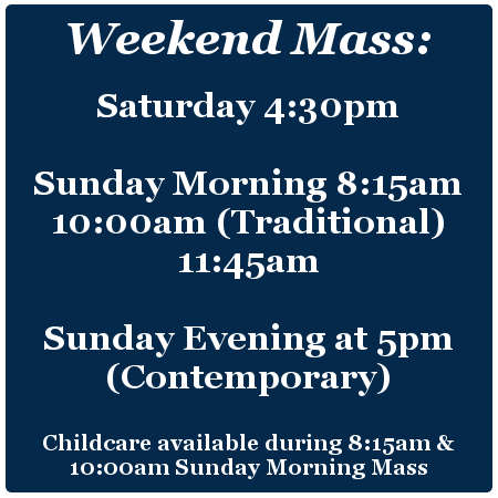 Weekend Mass Times Overland Park, KS