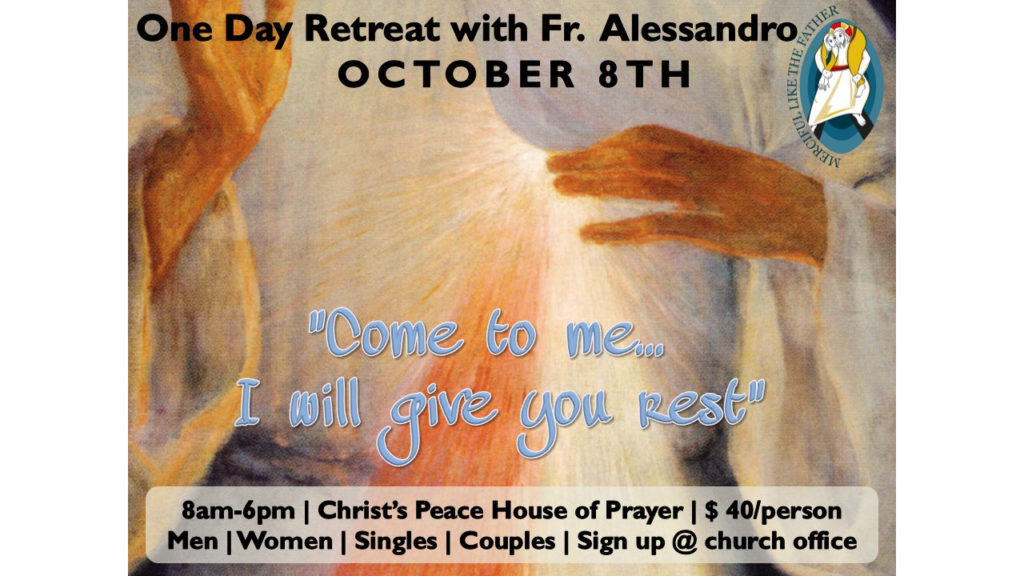 One Day Retreat - Fr Alessandro