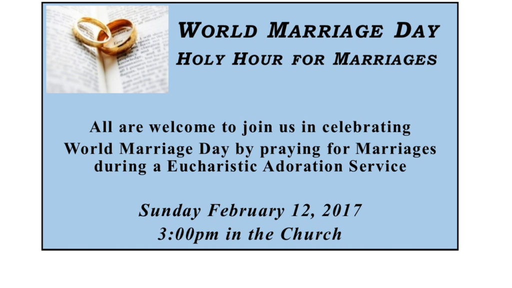 World Marriage Day - Holy Hour