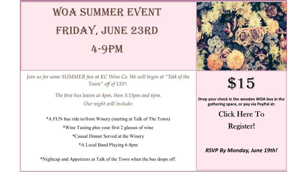 WOA Summer Event